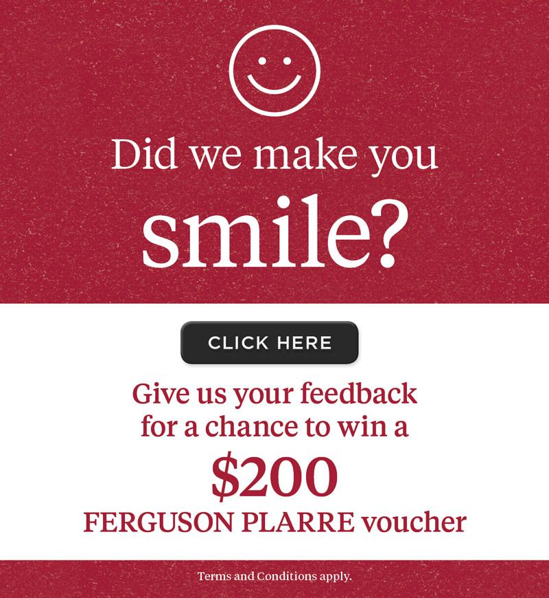 Did we make you smile?