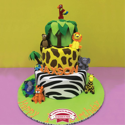 Custom-made Safari Birthday cake