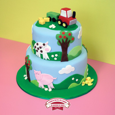 Custom-made Farmyard Birthday cake