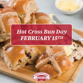 Hot Cross Bun Day - 6 weeks before Easter