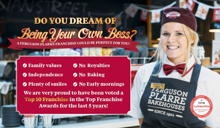 Bakery Franchise Locations available throughout Victoria