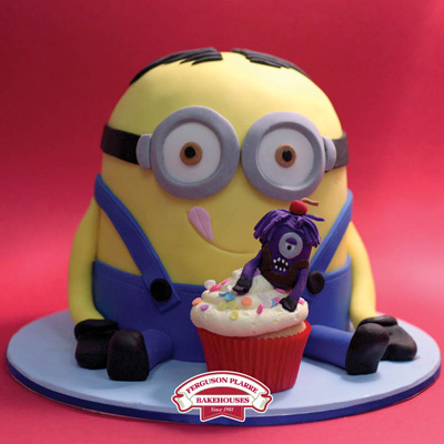 Custom-made Minions Birthday cake