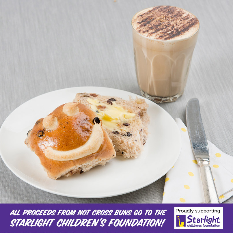 All profits from Not Cross Buns will go to the Starlight Foundation