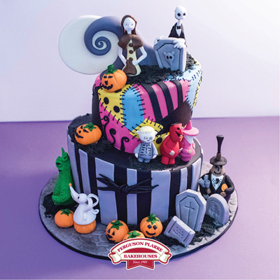 Custom-made Nightmare Before Christmas cake