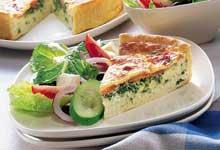 Spinach and Tomato Quiche